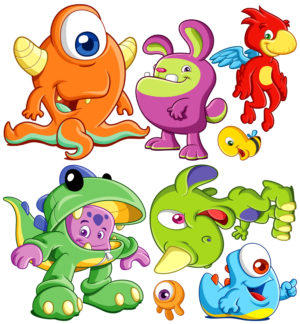 Monster Wall Stickies